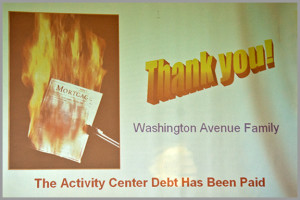 Activity Center Mortgage Burning