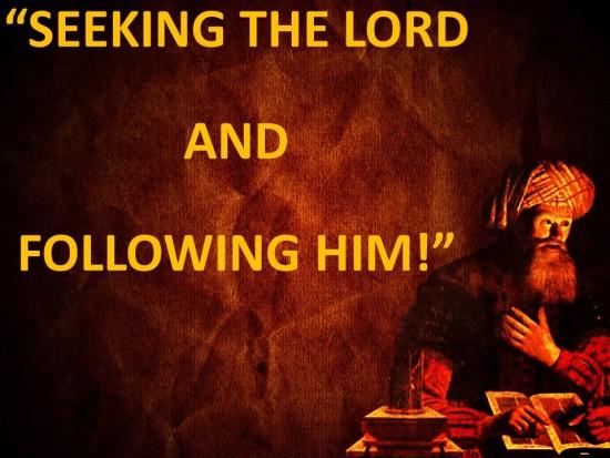 Seeking The Lord And Following Him -- Nicodemus