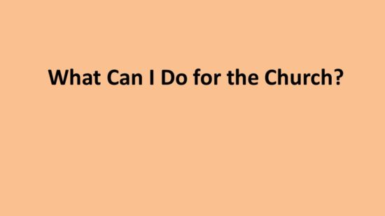 what-can-i-do-for-the-church