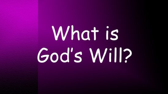 what-is-the-will-of-god