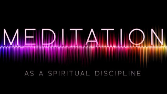 sound waved with title Meditation as a spiritual discipline