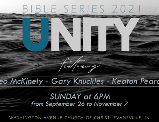 Body of water with Unity and details of the 2021 Bible Series