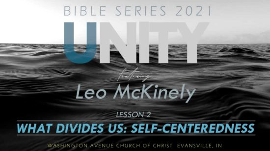 2021 Bible Series Unity on Black waves What Divides Us: Self-centeredness