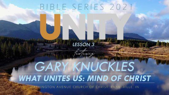 2021 Bible Series Unity on Black waves What Unites Us - Mind of Christ