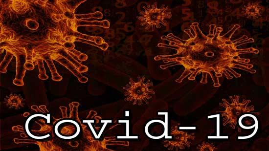 Image of the coronavirus with words Covid-19